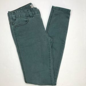 Free People green skinny jeans